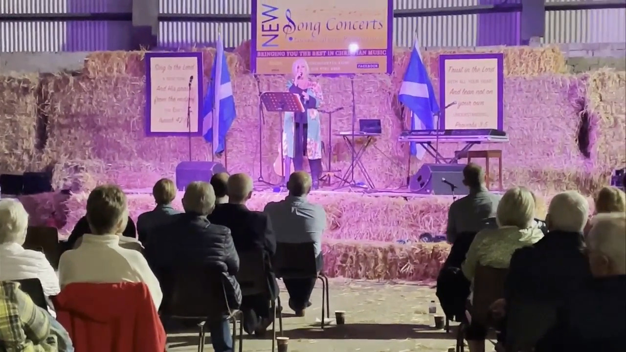 Sharon Morrison singing at Praise In The Barn on Friday night.